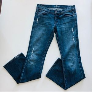 7 For All Mankind Distressed Boot Cut Stretch